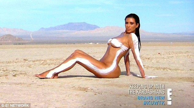 Similar setting: While Kim had trekked to the desert to snap exclusive content for her new website