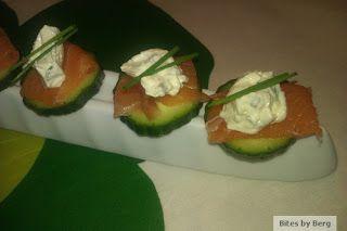 Bites by Berg: Lakse appetizer med wasabi og citron-flødeost