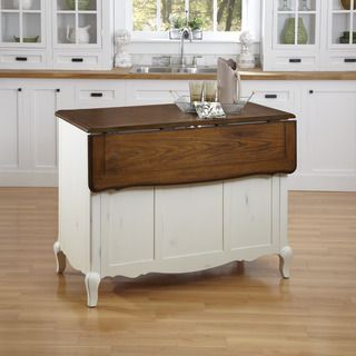 The french countryside kitchen island and two stools - Overstock kitchen islands ...