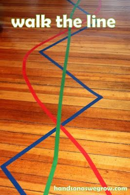 Tape Lines to walk along
