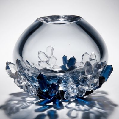 Vessel – gallery - Cristallized vases