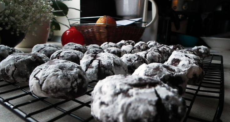 Chocolate crinkles (popękane ciasteczka czekoladowe)