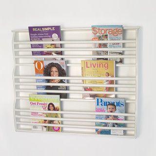 Deluxe Wall-Mount Magazine Rack - contemporary - magazine racks -  - by Organize - Pottery Barn