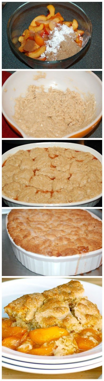 The Best Ever Southern Peach Cobbler. | Desserts | Pinterest