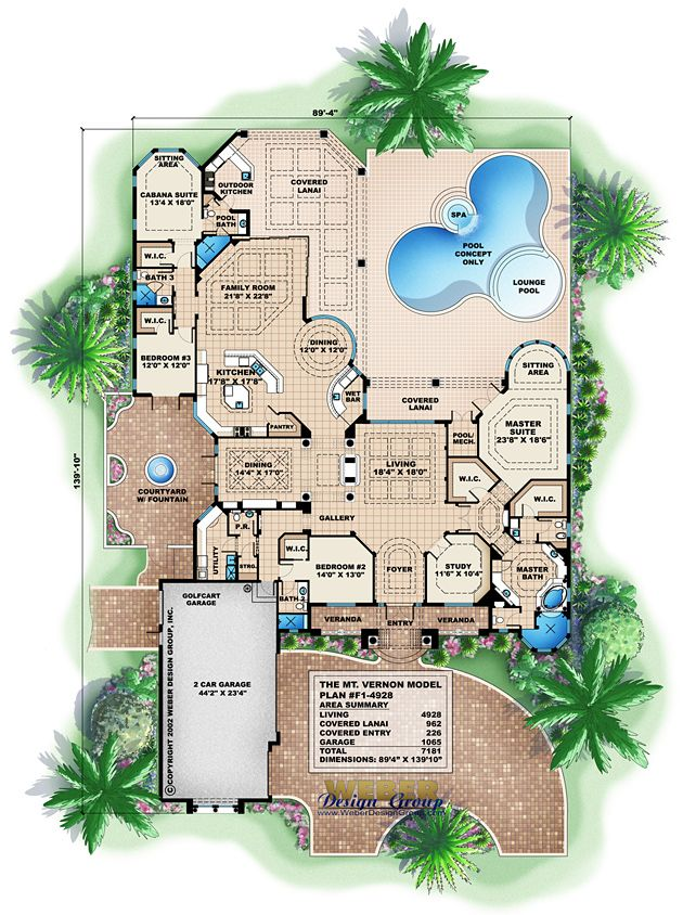 House Plans With A Pool top 25+ best mediterranean house plans ideas on pinterest