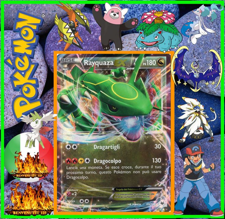 Pokemon, rayquaza ex, 60/108 in italiano