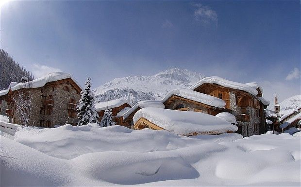 val d'isere   Val d'Isère, France, is extremely popular with British skiers Photo ...