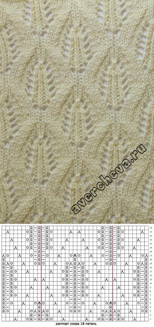 knitting pattern: White leaves...♥ Deniz ♥