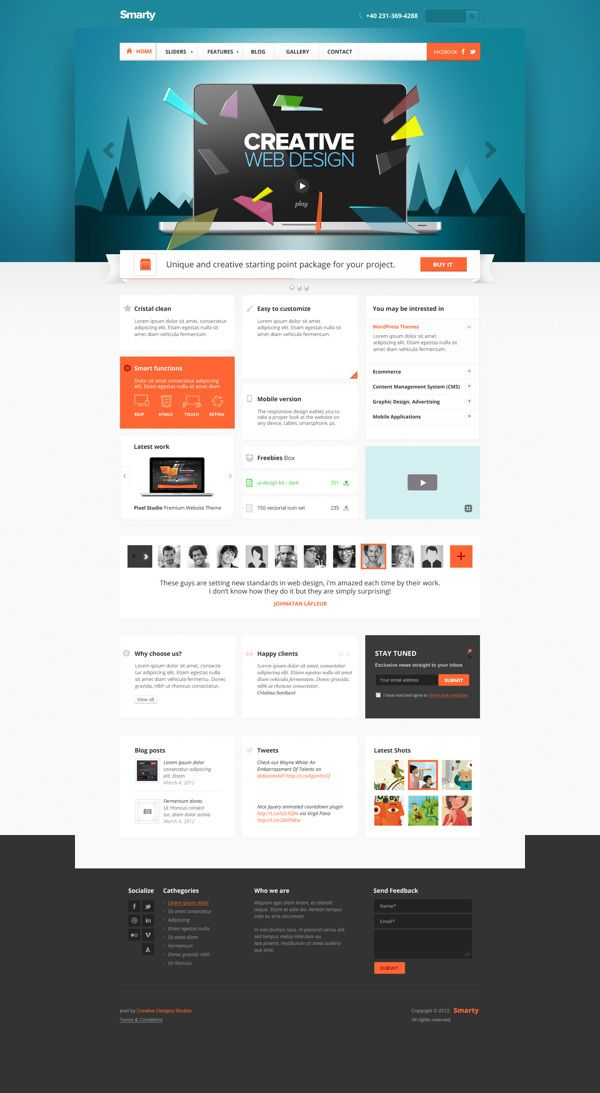 Smarty - Business Portfolio for Creative Agencies by Nicola Mihaita, via Behance