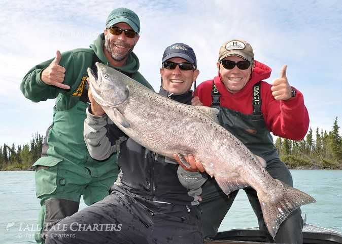 King Salmon Fishing Alaska: King salmon fishing in Alaska at it's best!   © AlaskaFishingTrips.biz