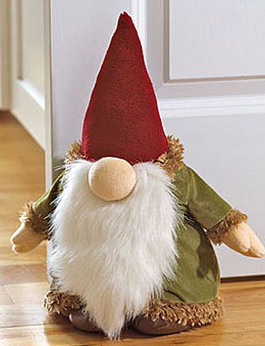 Doorstop in the shape of of a house guardian gnome