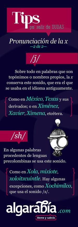Pronunciación de la x —segunda parte—