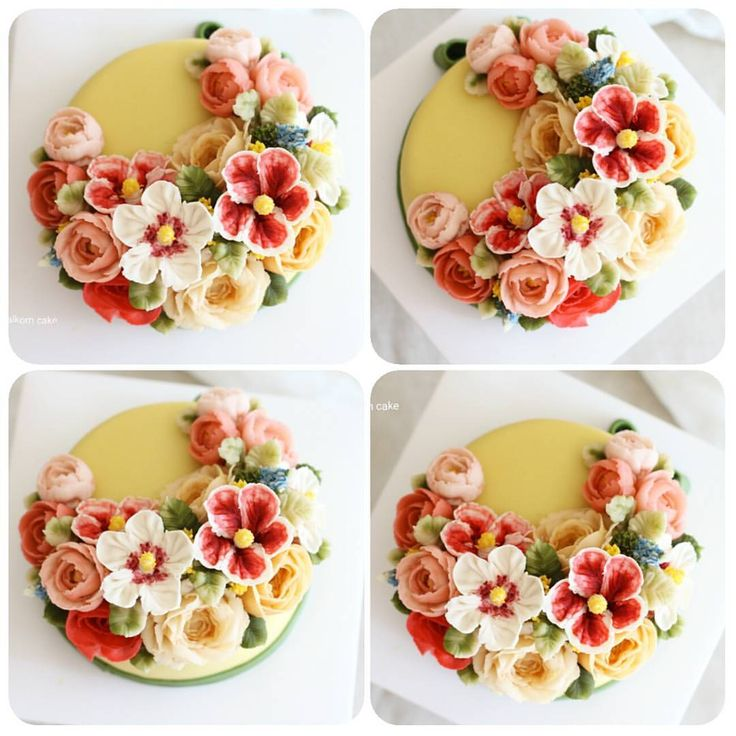 "56 Likes, 2 Comments - Dalkomcake flowercake (@dalkomcake) on Instagram: ""Done by student from Singapore  4th day of Beanpaste course . #beanpaste#flowercake…"""
