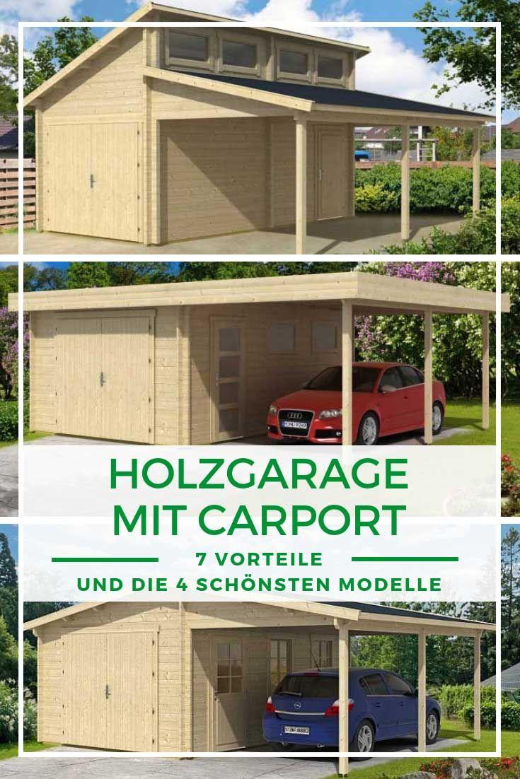 Garage Ideen Die Holzgarage Mit Carport Holzgarage Carport Garage Mit Carport