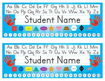 This product offers a quick and easy alternative to buying expensive name tags every year and writing student names by hand. This Word 2010 file will allow you to simply type in student names, print in color on 8.5x11 paper, and laminate for personalized name tags.