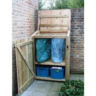 Outdoor recycling and trash storage solution / Terraskast - Sortera // tuinenverkes