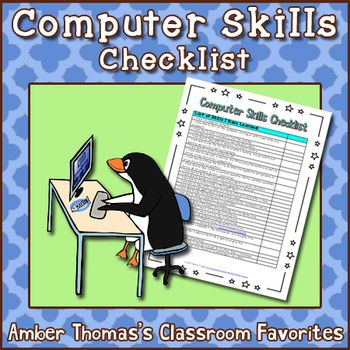 Here is a list of computer skills that I, a regular classroom teacher, developed for my fourth graders. There is a mix of basic keyboarding skills, internet know-how, and navigating Windows.  FREE