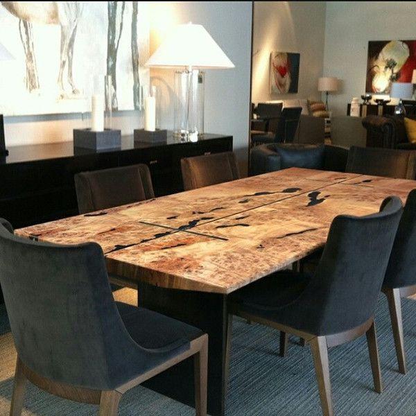 Mesa de jantar/escritório rústica