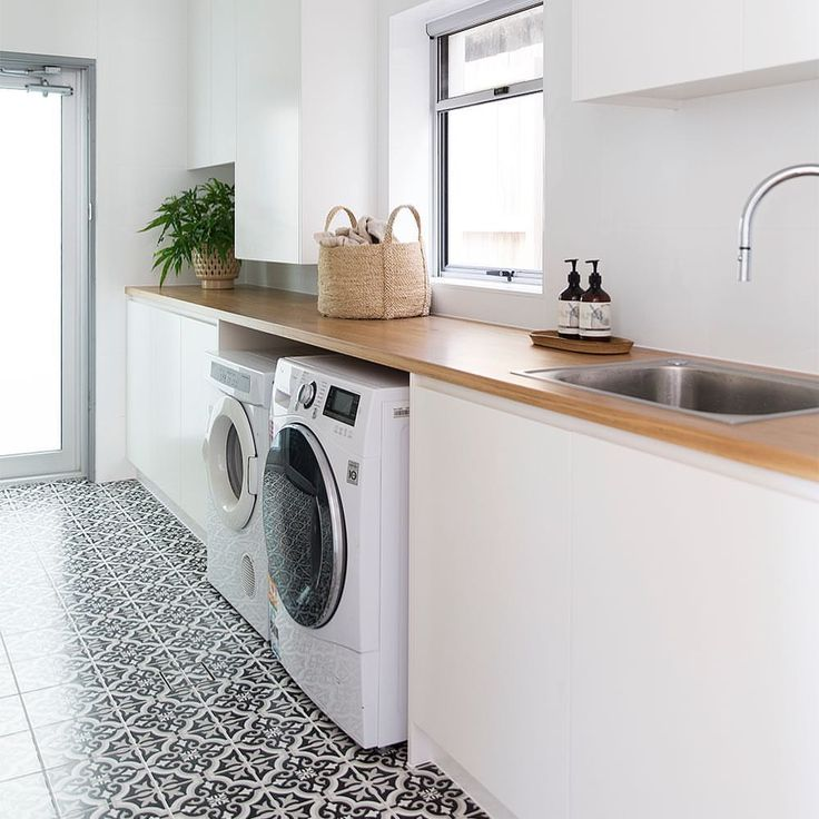 Laundry Love, no wait .. Laundry OBSESSION at our #beachouseproject ✨ I mean, load up those washing baskets kids! Can I just point out one thing - In a perfectly designed world, the washing machine and dryer would be the same brand, same height, same depth. BUT, we always accommodate our clients' items, requests and objectives where we can in their homes, and we don't sweat the small stuff at DGD in pursuit of perceived perfection. Don't get me wrong, we love creating beautiful rooms and…