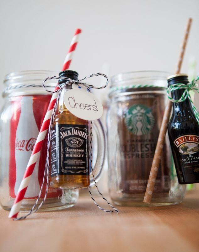 Creative Cocktail Mason Jar Favors | You can't go wrong with boozy mason jar favors.