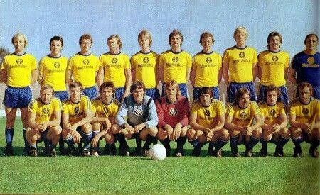 Eintracht Braunschweig of West Germany team group in 1976-77.