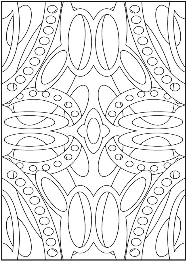 Dover Sampler - Creative Haven 3-D Abstracts Coloring Book