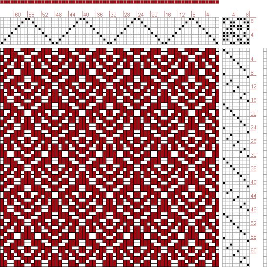 Hand Weaving Draft: Page 130, Figure 8, Donat, Franz Large Book of Textile Patterns, 8S, 8T - Handweaving.net Hand Weaving and Draft Archive