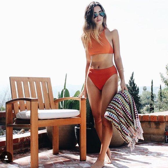 For sale! Nasty gal halter bikini top and high waisted bottom on Poshmark