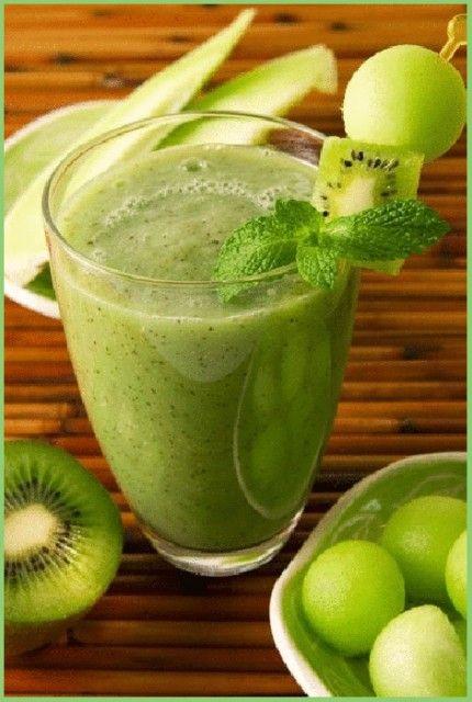 Жиросжигающий зелёный коктейль.