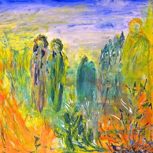 Pelgrims - #landschappenvandeziel #painting #art #soul #journey #modernart #contemporaryart #irkastachiw #pilgrims