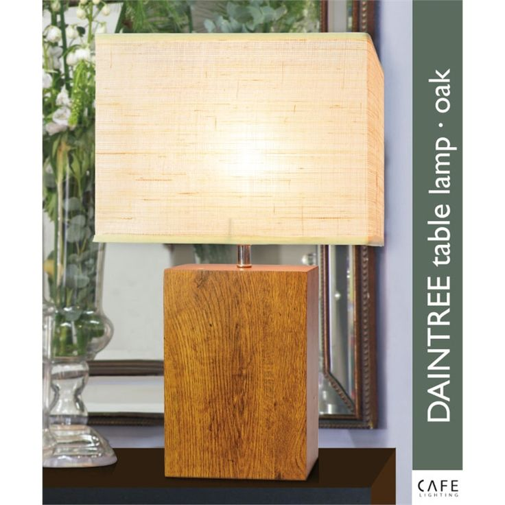 Find Cafe Lighting 51cm Oak Daintree Table Lamp at Bunnings Warehouse. Visit your local store for the widest range of lighting & electrical products.