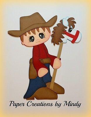 Craftecafe-Mindy-Cowboy-westerm-Premade-paper-piecing-for-scrapbook-page-album