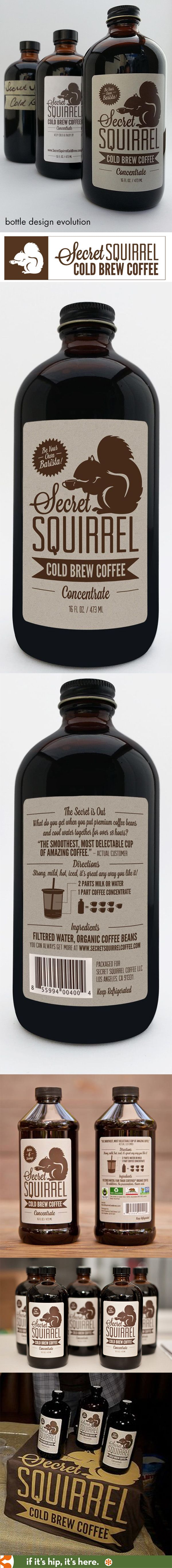 Here you go SmallBlackRoom Secret Squirrel Cold Brew Coffee Concentrate's Bottle Design Evolution PD