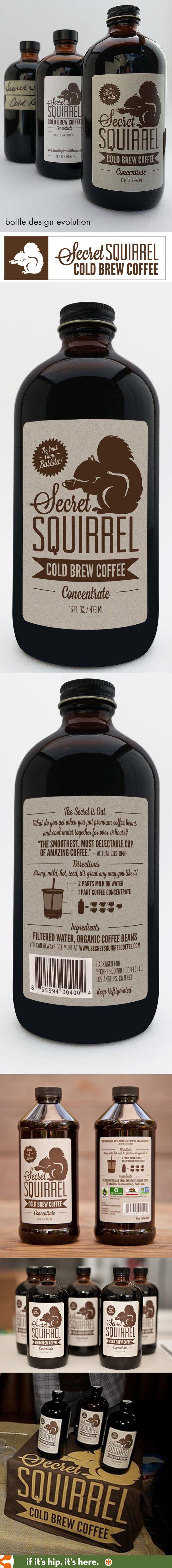 Here you go SmallBlackRoom Secret Squirrel Cold Brew Coffee Concentrate's Bottle Design Evolution PD