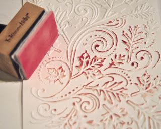 By Kassi Lynne. Use this tool to ink the raised parts of dry embossed cardstock. Stick craft foam to a felt pad, then to the Velcro on an ink blending tool. The foam is hard than a blending pad, allowing you to hit only the raised areas. It will hold & distribute ink & paint better also. (It won't work well for blending ink, though, so use the Ranger foam or felt pads for this.) With paint, use a very thin layer on the foam & really spread the paint out as you are picking it up.