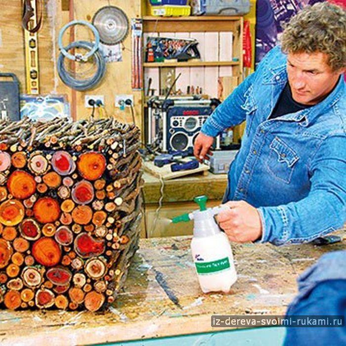 Интересная мебель из веток, фанеры и спилов | Из дерева своими руками! Интересные деревянные поделки, мебель, мастер-классы по дереву