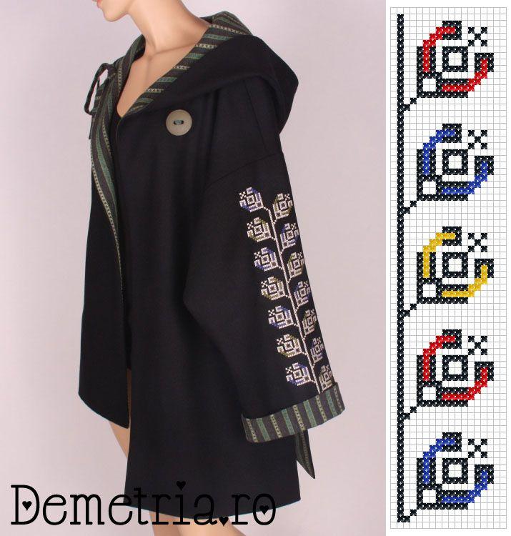 Black wool Demetria coat