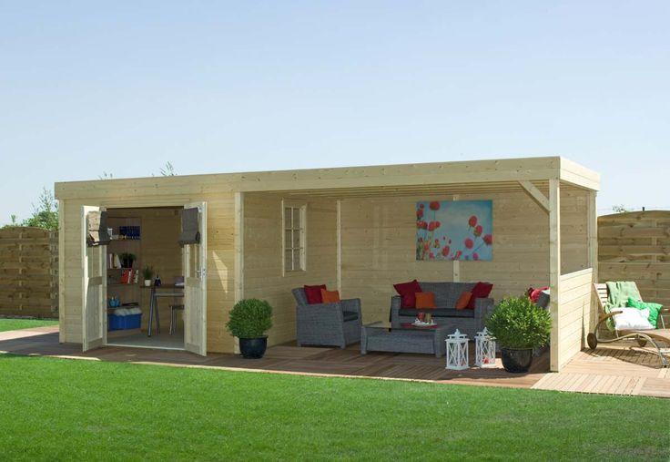 Infinity Gartenhaus von BearCounty, erhätlich bei www.Gartenhaus-online.de