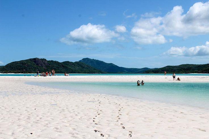 I wonder why they call it Whitehaven? #whitehavenbeach #lovewhitsundays #sandbar #islandlife