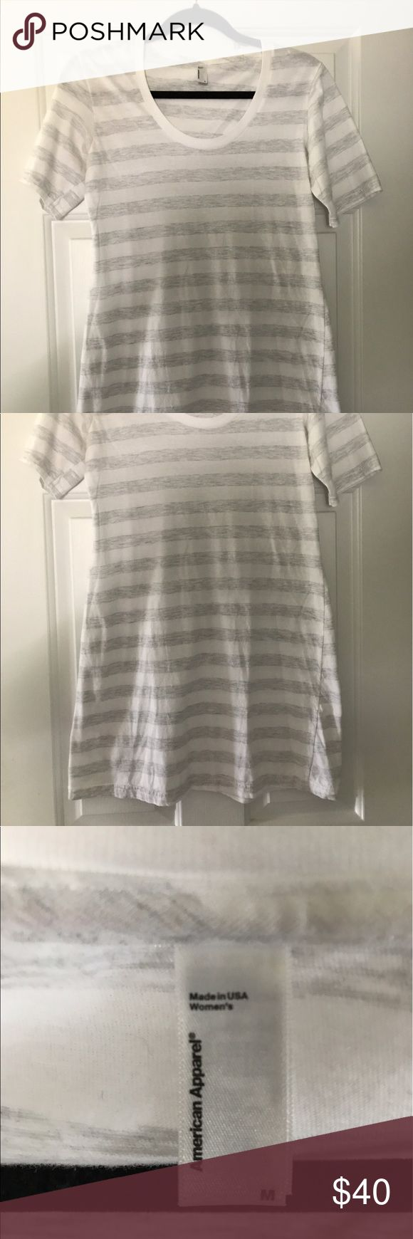 American Apparel Striped TShirt Dress Super cute and comfy striped t shirt dress. In like-new condition, only worn a few times. American Apparel Dresses Mini