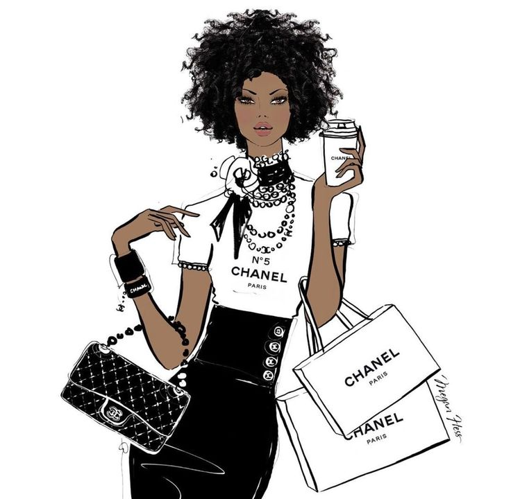 Today I'm wanting a double shot espresso of CHANEL's finest coffee! So much to do, so much to draw, so excited!  #MeganHessIllustration