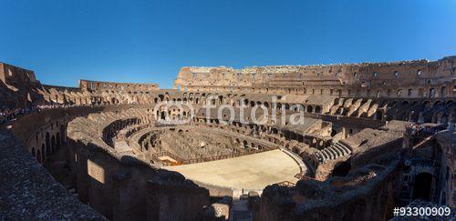 Kolosseum Rom Panorama Innenraum