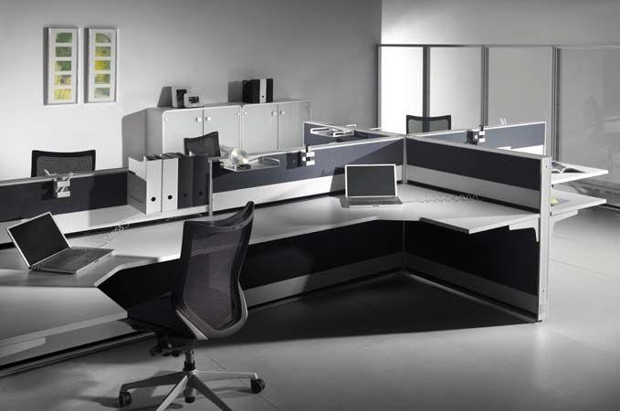 Sistema de mueble operativo para oficinas R+Plus, producido por la empresa Bior. Diseño de Aitor García de Vicuña