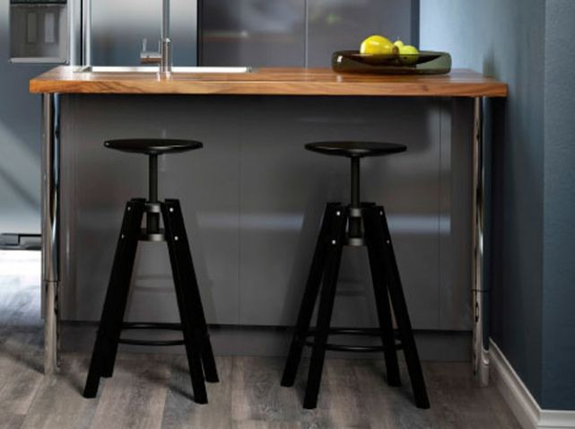 Tabouret noir bar ikea deco salon pinterest cuisine - Meubles bar ikea ...