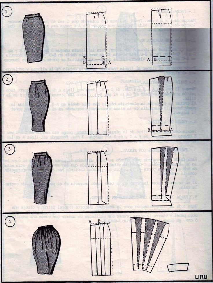 Skirt pattern cutting