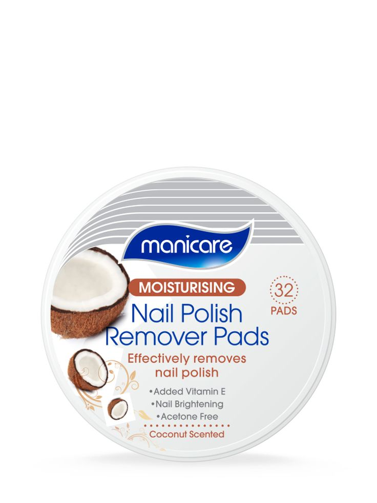 Effectively removes nail polish. Coconut scented.