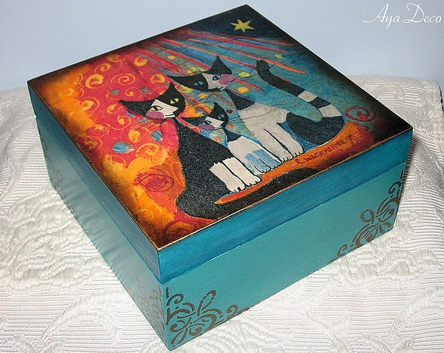 decoupage box...