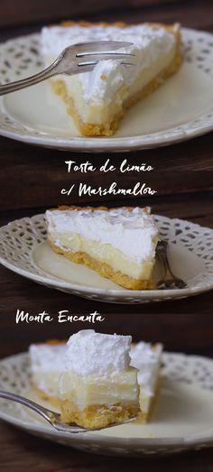 Torta de Limão com Marshmallow. Torta de leite Condensado com limão tahiti, massa podre quebradiça – Pâte Sablèe e cobertura de marshmallow. Não dá para errar com essa torta. A …