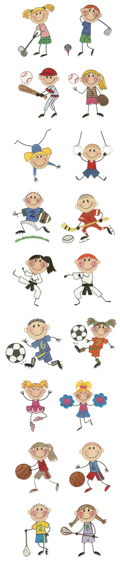 Embroidery | Free Machine Embroidery Designs | The Stix Kids Play Sports