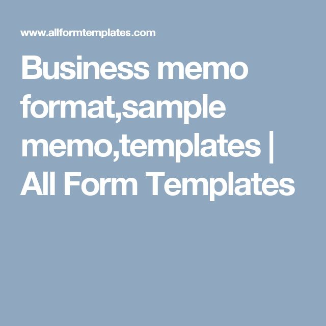 Business Memo Samples  Business Memo Template